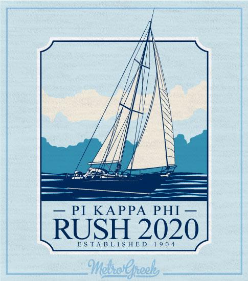 Pi Kappa Fraternity Rush Shirt Sailboat