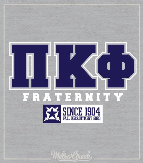 Pi Kappa Phi Rush Shirt Letters