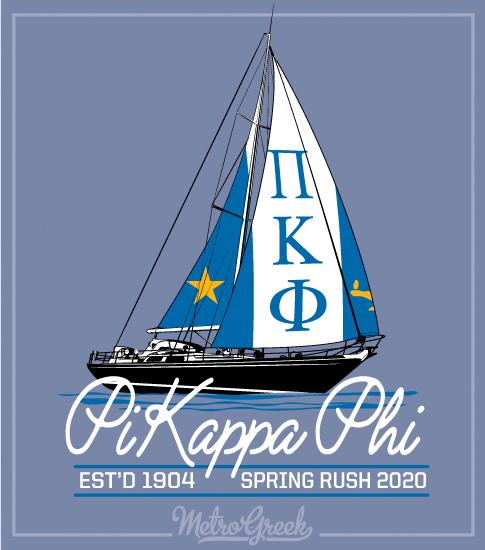 Pi Kappa Phi Rush Shirt Sailboat