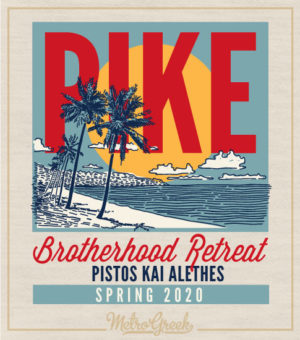 Pike Fraternity Rush Shirt Beach Poster