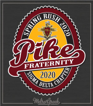 Pike Fraternity Rush Shirt Label Style