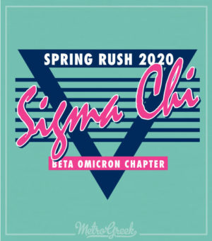Retro Eighties Sigma Chi Rush Shirt