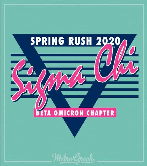 Retro Eighties Sigma Chi Rush Shirt