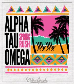 Retro Surf Fraternity Rush Shirt ATO