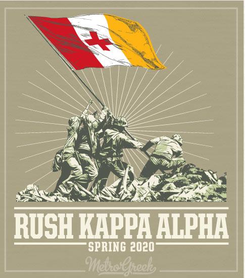 Rush Shirt Kappa Alpha Order Iwo Jima