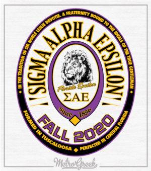 SAE Fraternity Rush Shirt Label Style