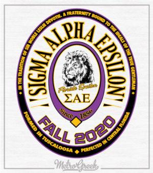 SAE Fraternity Rush Shirt Label Style