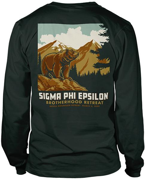 Sig Ep Brotherhood Retreat Shirt Bear