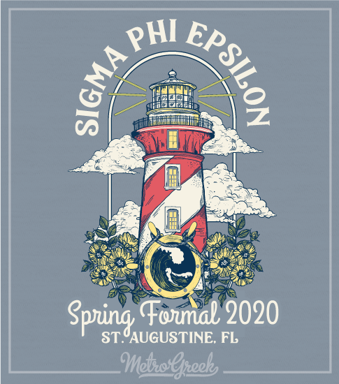 Sig Ep Fraternity Formal Shirt with Lighthouse