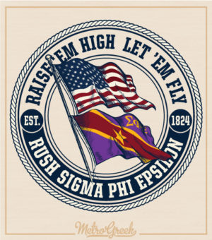 Sig Ep Fraternity Rush Shirt Double Flags