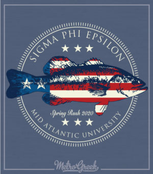 Sig Ep Rush Shirt Trout and Flag