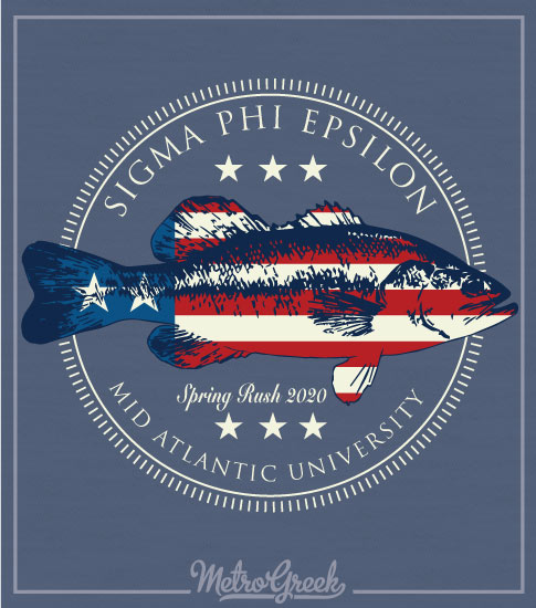 Sig Ep Rush Shirt Trout and Flag