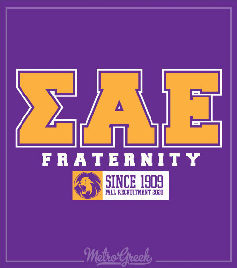 sigma Alpha Epsilon Block Letter Shirt
