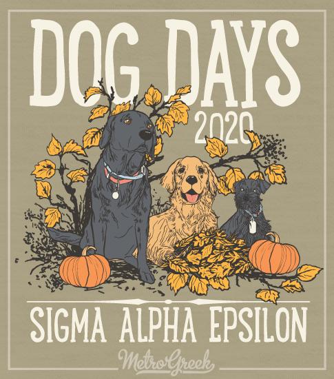 Sigma Alpha Epsilon Dog Days Shirt