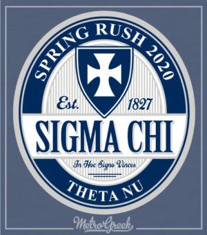 Sigma Chi Rush Shirt Cross in Circle