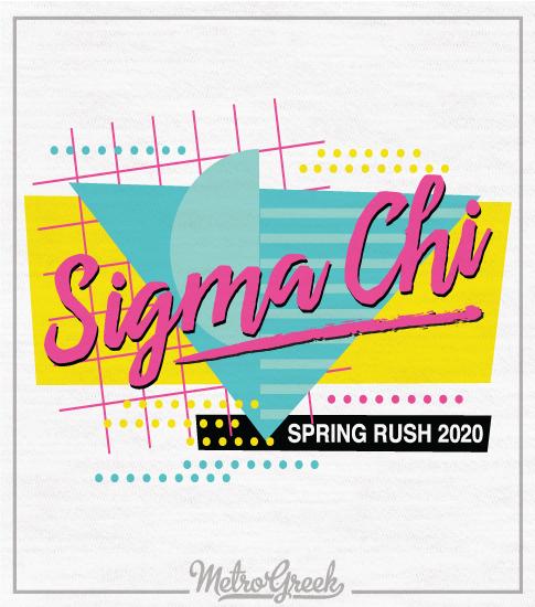 Sigma Chi Rush Shirt Eighties Retro