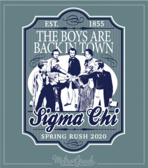 Sigma Chi Rush Shirts Founders