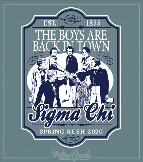 Sigma Chi Rush Shirts Founders