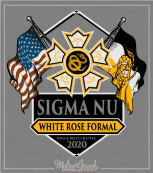 Sigma Nu Fraternity Formal Shirt Flags
