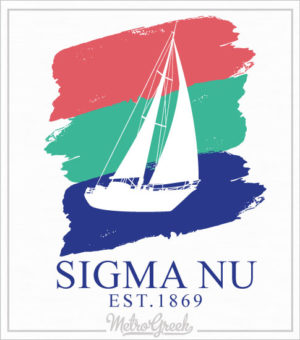 Sigma Nu Fraternity Rush Shirt Sailboat
