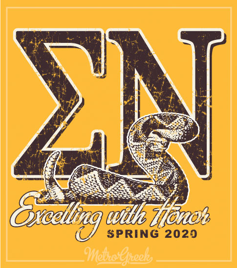 Sigma Nu Fraternity Rush Shirt with Snake