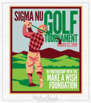 Sigma Nu Golf Tournament Shirt