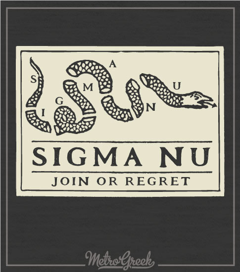 Sigma Nu Join or Die Rush Shirt
