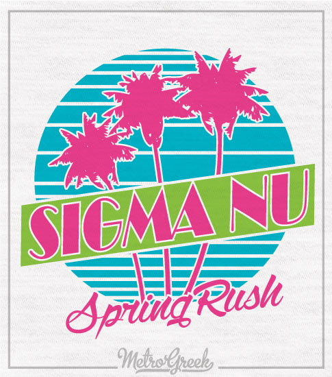 Sigma Nu Retro Eighties Rush Shirt