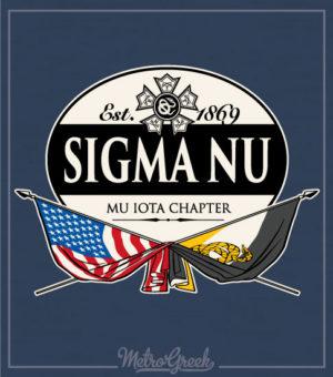 Sigma Nu Rush Shirt Crossed Flags