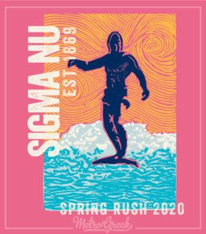 Sigma Nu Rush Shirt Pink Surfer
