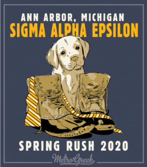 Sigma Phi Epsilon Rush Shirt Puppy