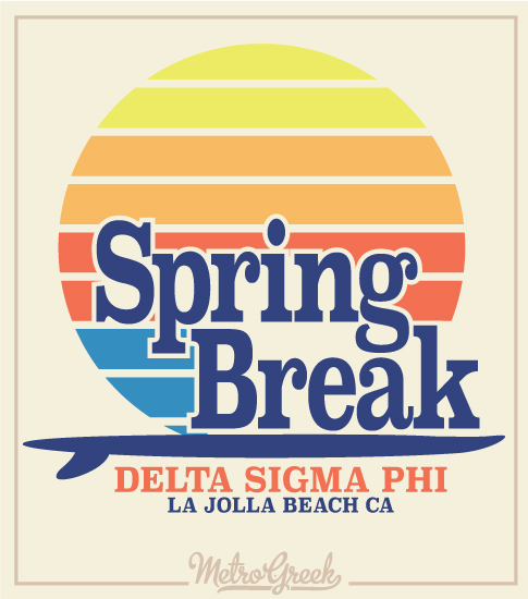 Spring Break Shirt Retro Surf Style