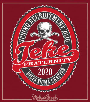 Teke Fraternity Rush Shirt Skull Label