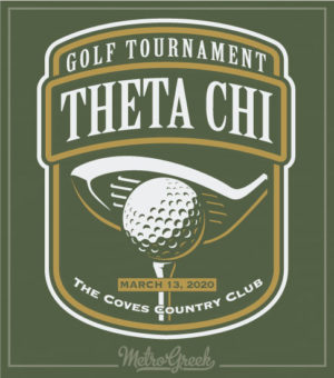 Theta Chi Golf Tournament Shirt