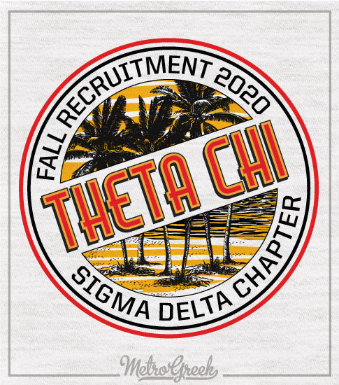 Theta Chi Recruitment Shirt Tropical