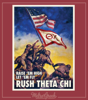 Theta Chi Rush Shirt Iwo Jima
