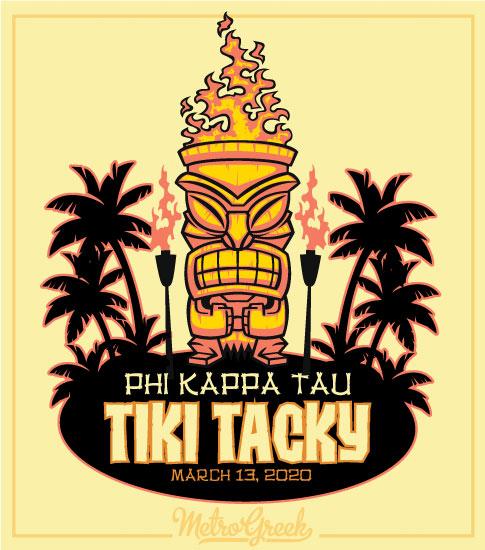 Tiki Tacky Hawaiian Luau Shirt