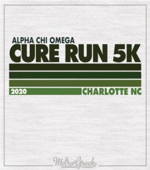 AChiO 5k Run Shirt Stripes