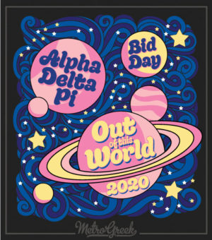 Alpha Delta Pi Bid Day Shirt Planets