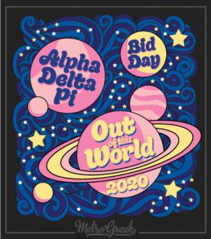 Alpha Delta Pi Bid Day Shirt Planets