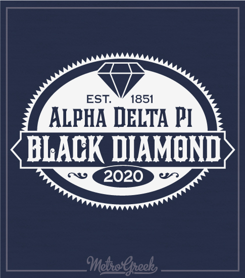 Alpha Delta Pi Black Diamond Formal Shirt