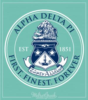 Alpha Delta Pi Classic Crest Shirt