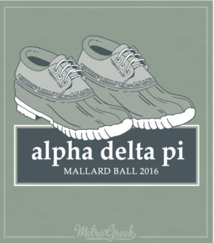 Alpha Delta Pi Duck Shoes Formal Shirt