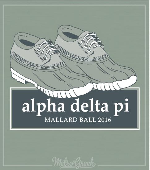 Alpha Delta Pi Duck Shoes Formal Shirt
