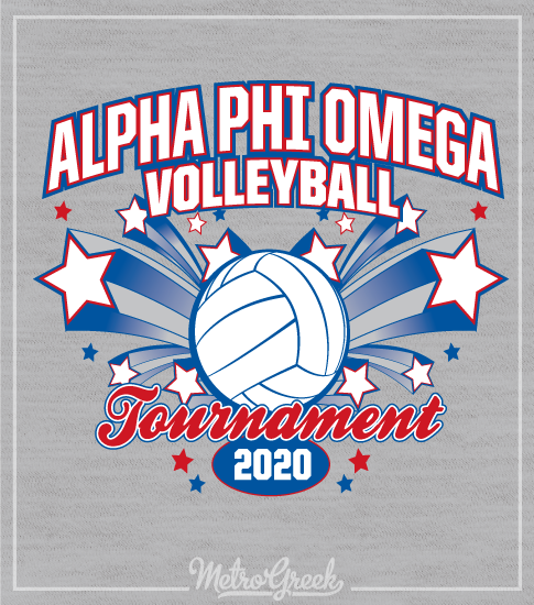 Alpha Phi Omega Volleyball Shirt