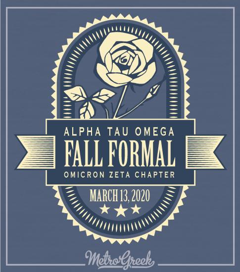 Alpha Tau Omega Formal Rose Shirt