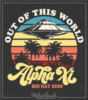 Alpha Xi Delta Bid Day UFO Shirt