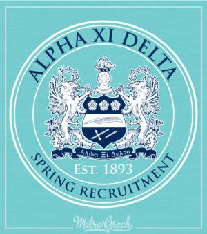 Alpha Xi Delta Classic Crest Shirt
