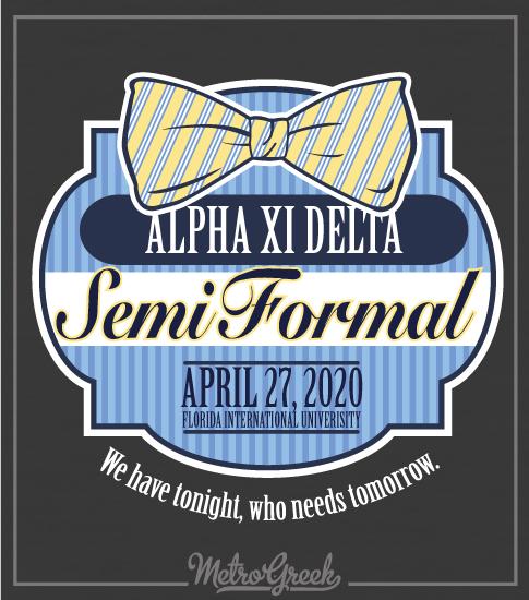 Alpha Xi Delta Bowtie Formal T-Shirt