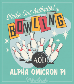 AOPi Strike Out Arthritis Bowling Shirt